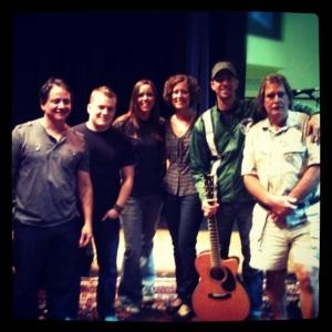 Stan, Corey, Jess, Nikki, Me, Bob FPC Vine Band today
